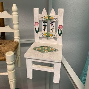 Accents - 3 wooden doll chairs
